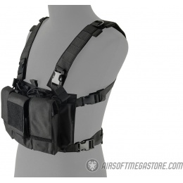 Lancer Tactical Adaptive Multi-Purpose Slim Chest Rig - BLACK
