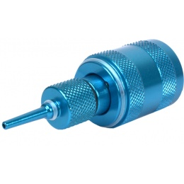 Sapien Arms Airsoft Anodized Blue Propane Adaptor w/ Silicon Oil Port