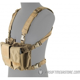 Lancer Tactical Adaptive Multi-Purpose Slim Chest Rig - TAN