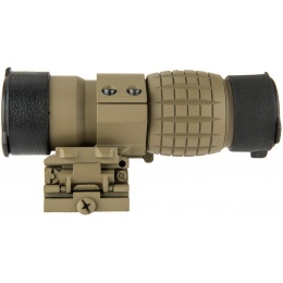 Lancer Tactical 1 - 3x Adjustable Magnifier w/ QD Mount - TAN