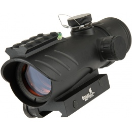 Lancer Tactical Enclosed Red Dot Sight w/ Top Optic Rail - BLACK