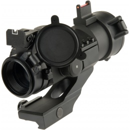 Lancer Tactical Outdoor Fiber Sight and Red Dot Hunting Scope - BLACK