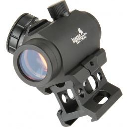 Lancer Tactical 1 x 30 Mini Red/Green Dot Sight w/ Picatinny Riser - BLACK