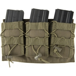Lancer Tactical 1000D Nylon MOLLE Triple AR Mag Pouch - OD GREEN