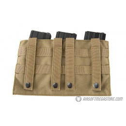 Lancer Tactical 1000D Nylon MOLLE Triple AR Mag Pouch - TAN