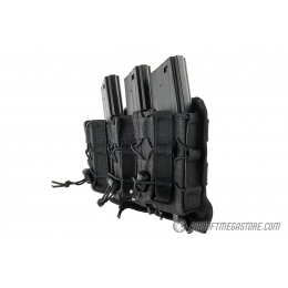 Lancer Tactical 1000D Nylon MOLLE 2-in-1 Triple M4/Pistol Mag Pouch - BLACK