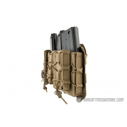 Lancer Tactical 1000D Nylon MOLLE 2-in-1 Triple M4/Pistol Mag Pouch - TAN