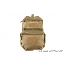 Lancer Tactical Foldable MOLLE Utility Pack - TAN