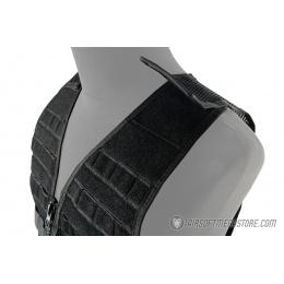 Lancer Tactical Breathable MOLLE/PALS Adjustable Mesh Vest - BLACK
