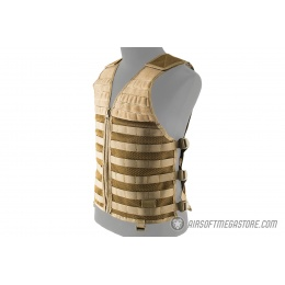 Lancer Tactical Breathable MOLLE/PALS Adjustable Mesh Vest - TAN