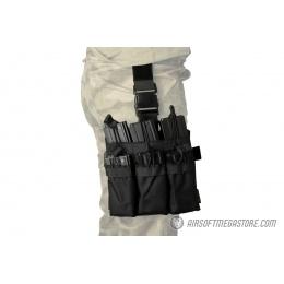 Lancer Tactical Drop Leg Six M4/M16 Magazine Panel - BLACK