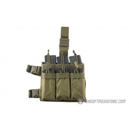 Lancer Tactical Drop Leg Six M4/M16 Magazine Panel - OD GREEN