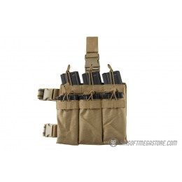 Lancer Tactical Drop Leg Six M4/M16 Magazine Panel - TAN