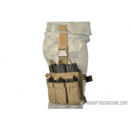 Lancer Tactical Drop Leg Six M4/M16 Magazine Panel - TAN