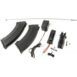 Echo1 Full Stock Red Star 47 RIS AEG w/ Battery and Charger - BLACK