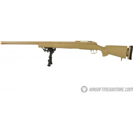 Echo1 M28 Bolt Action Sniper Rifle w/ Bipod - TAN