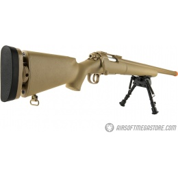 Echo1 M28 Bolt Action Sniper Rifle w/ Bipod - TAN