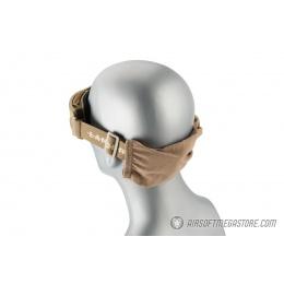 Lancer Tactical AERO Protective Tan Airsoft Goggles - SMOKE LENS