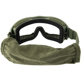 Lancer Tactical AERO Protective OD Green Airsoft Goggles - CLEAR LENS