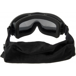 Lancer Tactical AERO Protective Black Airsoft Goggles - SMOKE/YELLOW/CLEAR LENS