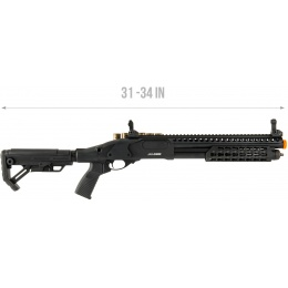 JAG Arms Scattergun SPX2 Airsoft Gas Shotgun (Extended Tube) - BLACK