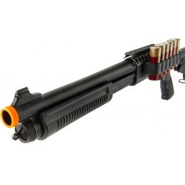 JAG Arms Scattergun TSS Airsoft Gas Shotgun w/ Side Saddle - BLACK