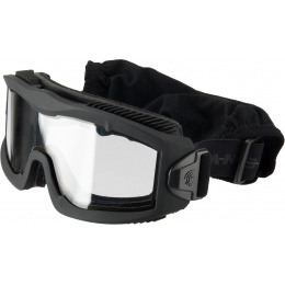 Lancer Tactical AERO Protective Black Airsoft Goggles - CLEAR LENS