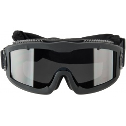 Lancer Tactical AERO Protective Black Airsoft Goggles - SMOKE LENS