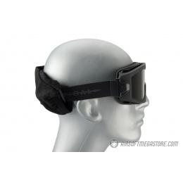Lancer Tactical AERO Protective Black Airsoft Goggles - SMOKE LENS