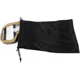 Lancer Tactical AERO Protective Tan Airsoft Goggles - CLEAR LENS