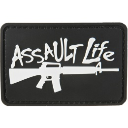 G-Force Assault Life PVC Morale Patch - BLACK