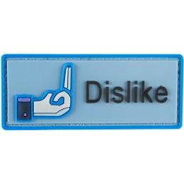 G-Force Dislike Social Media PVC Morale Patch - BLUE