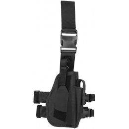 Lancer Tactical 1000D Nylon Drop Leg Holster - BLACK