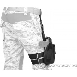 Lancer Tactical 1000D Nylon Drop Leg Holster - BLACK