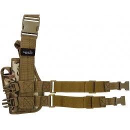 Lancer Tactical 1000D Nylon Drop Leg Holster - CAMO