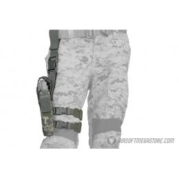 Lancer Tactical 1000D Nylon Drop Leg Holster - ACU