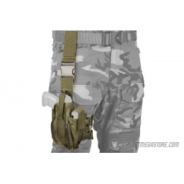 Lancer Tactical 1000D Nylon Drop Leg Holster - CAMO TROPIC