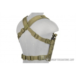 Lancer Tactical Airsoft 1000D Nylon Lightweight MOLLE Chest Rig - OD GREEN