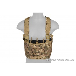 Lancer Tactical Airsoft 1000D Nylon Lightweight MOLLE Chest Rig - CAMO