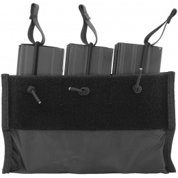 Lancer Tactical Nylon Triple Inner M4 Mag Pouch for CA-311 - BLACK