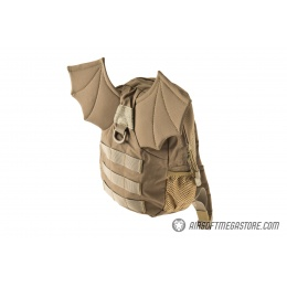 Lancer Tactical 1000D Nylon Tactical Bat Wing Backpack - TAN (Medium)