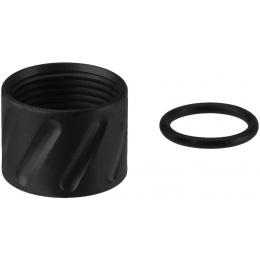 Atlas Custom Works ANGLES Full Metal -14mm CCW Thread Protector - BLACK