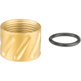 Atlas Custom Works ANGLES Full Metal -14mm CCW Thread Protector - GOLD