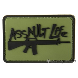 G-Force Assault Life PVC Morale Patch - OD Green