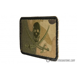 G-Force Camo Pirate Flag Embroidered Morale Patch
