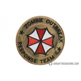 G-Force Zombie Response Team Embroidered Morale Patch - CAMO TROPIC