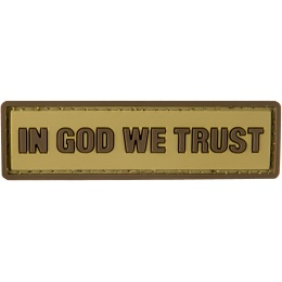 G-Force In God We Trust PVC Morale Patch - TAN