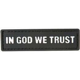 G-Force In God We Trust PVC Morale Patch - BLACK