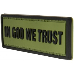 G-Force In God We Trust PVC Morale Patch - OD GREEN