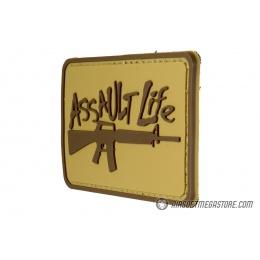 G-Force Assaullt Life PVC Morale Patch - TAN